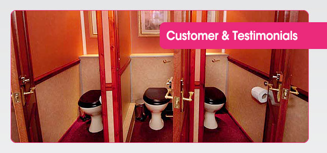 Portable toilet hire testimonials from Mobaloo Customers