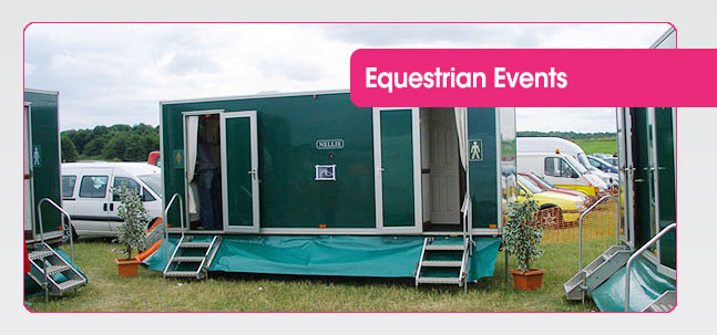 Portable toilet hire for Equestrian & Agricultural shows from Mobaloo