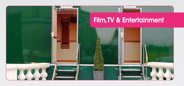 Portable toilet hire for Film, TV & Entertainment from Mobaloo