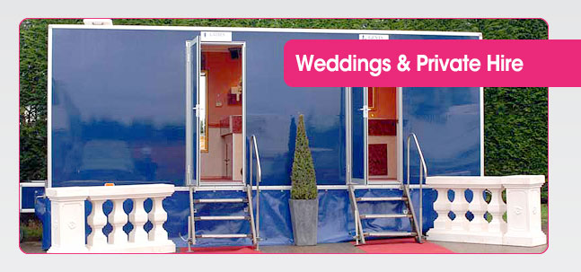 Portable toilet hire for weddings and private functions from Mobaloo