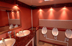 Luxury Toilet Hire Inside